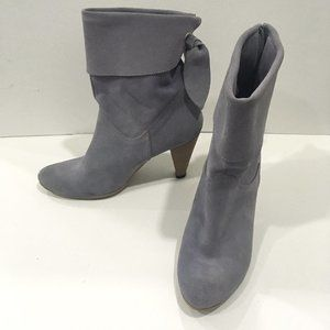 VERA GOMMA Boots Purple Suede Made In Italy Sz 37